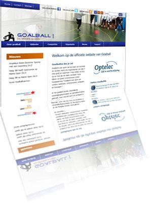 Printscreen van de website Goalball.nl