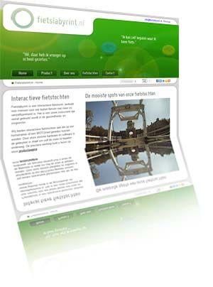Printscreen van de website Fietslabyrint.nl