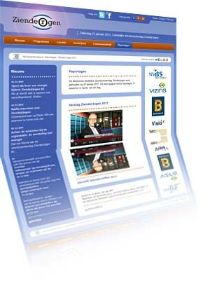Printscreen van de website Slechtziendendag.nl