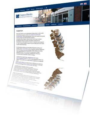Printscreen van de website Corpusmentis.nl