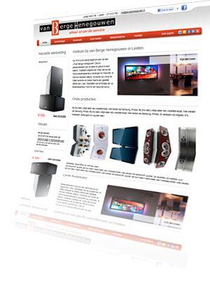 Printscreen van de website Bergehenegouwen.nl