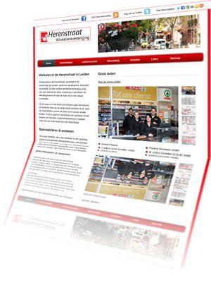 Printscreen van de website Leidenherenstraat.nl