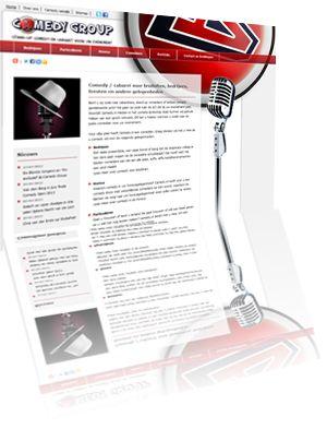 Printscreen van de website Camedygroup.nl