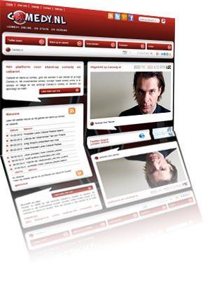 Printscreen van de website Camedy.nl