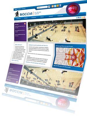 Printscreen van de website Boccia.nl