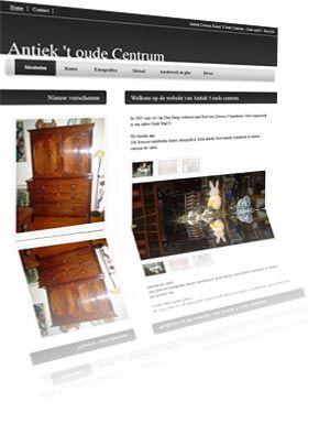 Printscreen van de website Antiektoudecentrum.nl