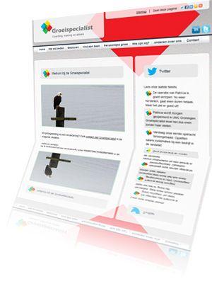 Printscreen van de website Groeispecialist.nl