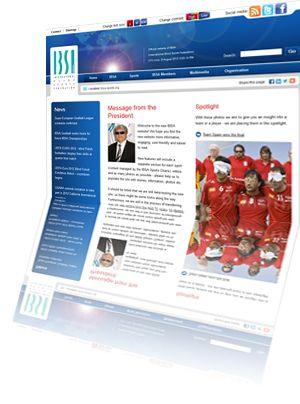 Printscreen van de website Ibsasport.org
