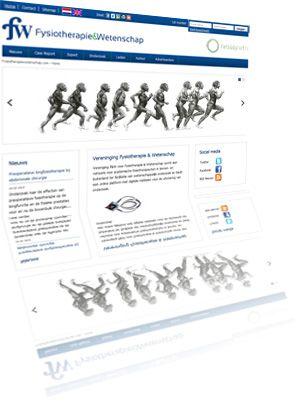 Printscreen van de website Fysiotherapiewetenschap.com